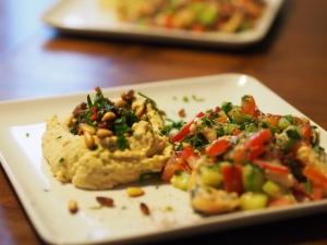 rind hummus zitronensauce